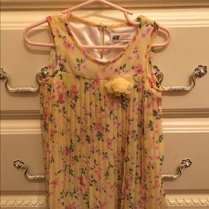 H&M Yellow Floral Spring Dress